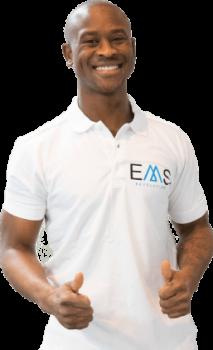 Eén van de personal trainers van EMS-Revolution